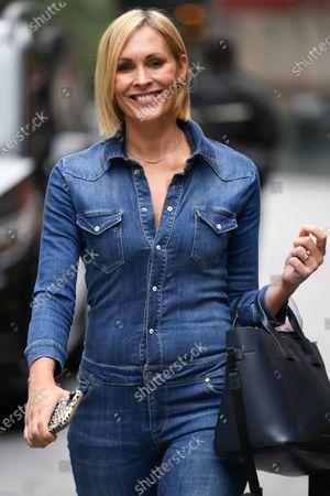 Stock Photo of Jenni Falconer seen departing the Global Radio Studios