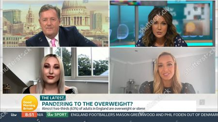 Stock Photo of Piers Morgan, Susanna Reid, Hayley Hasselhoff, Jennifer Atkin