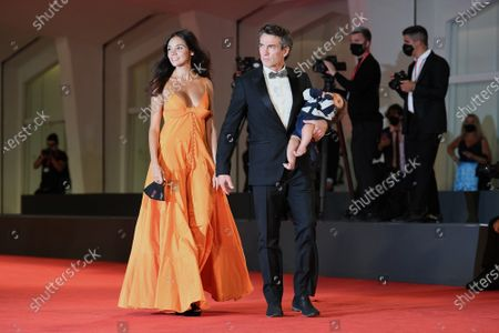 Nina Verdelli with Alessio Boni and son Lorenzo Boni