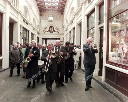 Editorial picture of Willie Rushton Memorial Service At St.pauls' Covent Garden: The Humphrey Lyttleton Band Lead A Procession Through Covent Garden