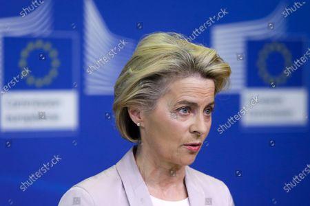 Editorial photo of Von der Leyen announces replacement of Ireland's EU Commissioner Phil Hogan whose portfolio will be taken by Latvia's Commissioner Valdis Dombrovskis, Brussels, Belgium - 08 Sep 2020
