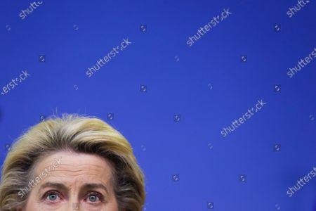 Editorial image of Von der Leyen announces replacement of Ireland's EU Commissioner Phil Hogan whose portfolio will be taken by Latvia's Commissioner Valdis Dombrovskis, Brussels, Belgium - 08 Sep 2020