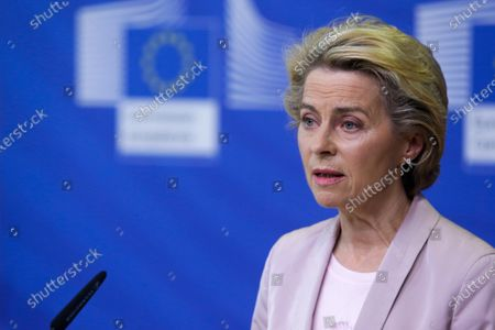 Editorial picture of Von der Leyen announces replacement of Ireland's EU Commissioner Phil Hogan whose portfolio will be taken by Latvia's Commissioner Valdis Dombrovskis, Brussels, Belgium - 08 Sep 2020