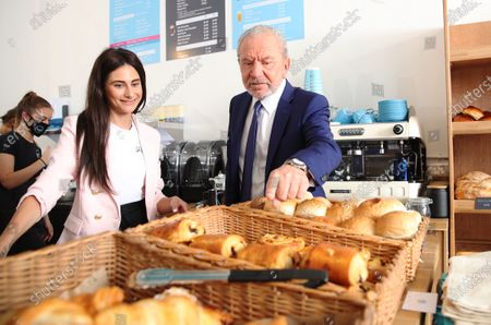 Lord Alan Sugar and his latest business partner Carina Lepore, open a new branch of Dough Bakehouse.