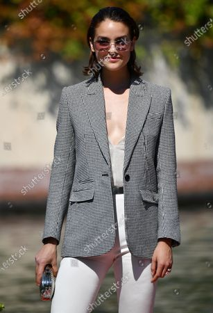 Luise Befort arrives at the Lido Beach for the 77th annual Venice International Film Festival, in Venice, Italy, 08 September 2020.The event is the first major in-person film fest to be held in the wake of the Covid-19 coronavirus pandemic. Attendees have to follow strict safety measures like mandatory face masks indoors, temperature scanners, and socially distanced screenings to reduce the risk of infection. The public is barred from the red carpet, and big stars are expected to be largely absent this year. The 77th edition of the festival runs from 02 to 12 September 2020.
