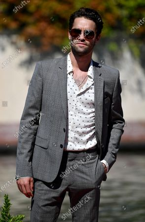 Maximilian Befort arrives at the Lido Beach for the 77th annual Venice International Film Festival, in Venice, Italy, 08 September 2020. The event is the first major in-person film fest to be held in the wake of the Covid-19 coronavirus pandemic. Attendees have to follow strict safety measures like mandatory face masks indoors, temperature scanners, and socially distanced screenings to reduce the risk of infection. The public is barred from the red carpet, and big stars are expected to be largely absent this year. The 77th edition of the festival runs from 02 to 12 September 2020.