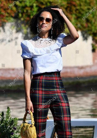 Nathalie Emmanuel arrives at Lido Beach for the 77th annual Venice International Film Festival, in Venice, Italy, 08 September 2020. The 77th edition of the festival runs from 02 to 12 September 2020.