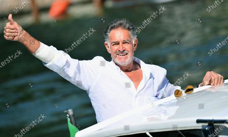 Stock Photo of Fabio Testi arrives at Lido Beach for the 77th annual Venice International Film Festival, in Venice, Italy, 08 September 2020. The 77th edition of the festival runs from 02 to 12 September 2020.