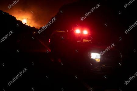 Editorial image of Creek Fire burns near Shaver Lake, USA - 08 Sep 2020