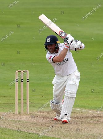 Stock Picture of Ian Bell of Warwickshire batting.