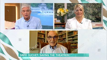 Stock Image of Holly Willoughby, Phillip Schofield, David Suchet