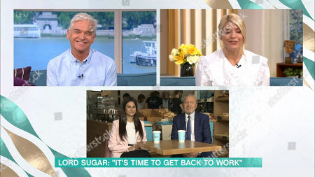 Phillip Schofield, Holly Willoughby, Carina Lepore, Lord Alan Sugar