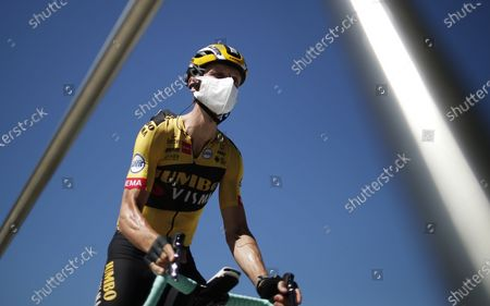 German rider Tony Martin of Jumbo-Visma team before the start of the 10th stage of the Tour de France over 168.5km from Le Chateau-d'Oleron on the Ile d'Oleron to Saint-Martin-de-Re on the Ile de Re, France, 08 September 2020.