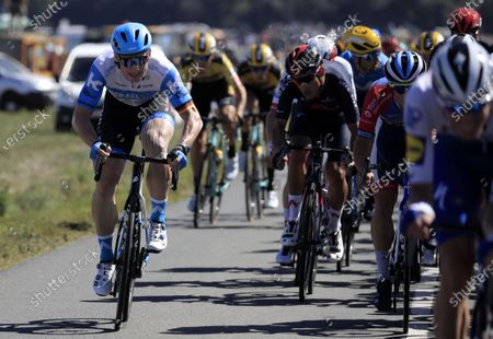 German rider Andre Greipel of Israel Start-Up Nation team in action during the tenth stage of the Tour de France cycling race over 168.5km from Ile d'Oleron to Ile de Re, France, 08 September 2020. Tour de France director Christian Prudhomme was tested positive for COVID-19 prior the start of the tenth stage.