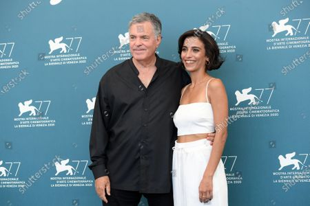 The director Amos Gitai with Bahira Ablassi