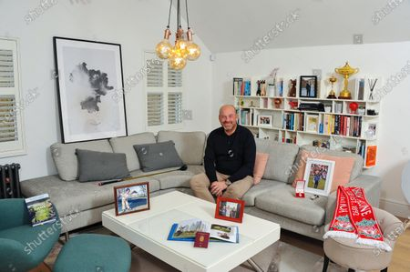 Thomas Bjorn 'My Haven'-Livingroom of his North London Flat 8.10.2019Ryder Cup trophy & Lego trophyLiverpool scarf (lifelong supporter)Print of Silkeborg in northern Denmark where he grew upPhoto Childhood (age 3) in SilkeborgFirst watch he bought after his first pro win (Photo of win in his home tournament in Himmerland) & his Danish MBEMind Game, the book he's recently co-written with sports journalist Michael Calvin about the psychology of golfHis much-used passportAnd a framed pic of him with his beautiful, blonde girlfriend (my daughter Grace!)Photo of his Children