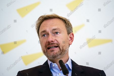 Free Democratic Party (FDP) chairman and faction chairman in the German parliament Bundestag Christian Lindner speaks during a press statement prior to a faction meeting at the German parliament Bundestag in Berlin, Germany, 08 September 2020. German Free Democratic Party (FDP) invited Russian dissident Vladimir Kara-Murza to their faction meeting on the occasion of the medical treatment of Russian opposition activist Alexei Navalny at the Charite hospital in Berlin.