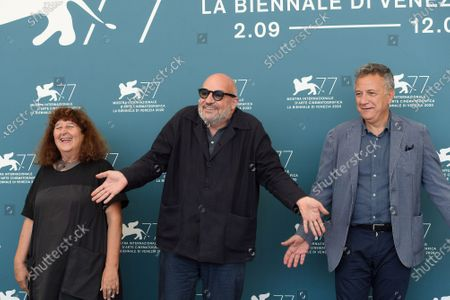 Donatella Palermo (producer Stemal Entertainment), director Gianfranco Rosi, Paolo Del Brocco (producer, Rai Cinema)