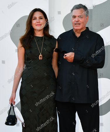 Stock Picture of Amos Gitai with his daughter Keren (L) arrive for the premiere of 'Laila in Haifa' during the 77th Venice Film Festival in Venice, Italy, 08 September 2020. The movie is presented in the official competition 'Venezia 77' at the festival running from 02 to 12 September.
