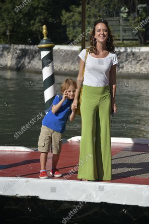 Caterina Guzzanti and son Elio