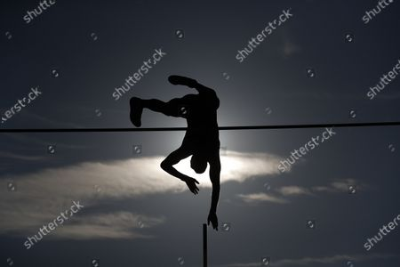 Renaud Lavillenie of France competes in pole vault at the Golden Spike athletic meeting in Ostrava, Czech Republic
