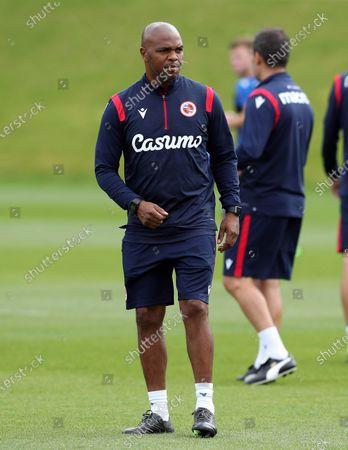 Quinton Fortune, 1st team coach for Reading FC at Bearwood Park. ©Jason Dawson/JASONPIX. 8th September 2020.