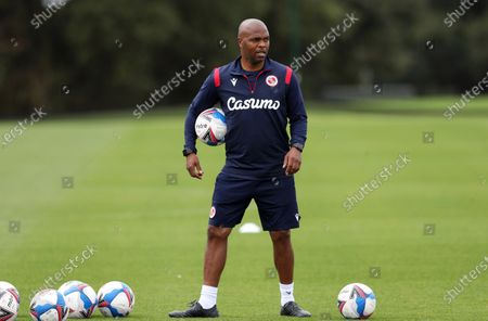 Stock Picture of Quinton Fortune, 1st team coach for Reading FC at Bearwood Park. ©Jason Dawson/JASONPIX. 8th September 2020.