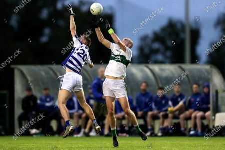 Stock Photo of Naas vs Confey. Naas' Ciaran Doyle and Patrick Griffin of Confey