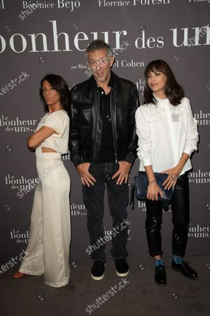 lorence Foresti, Vincent Cassel and Berenice Bejo