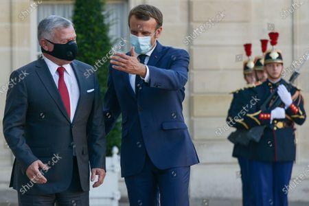 Editorial photo of Macron meets with King of Jordan at Elysee Palace, Paris, France - 08 Sep 2020
