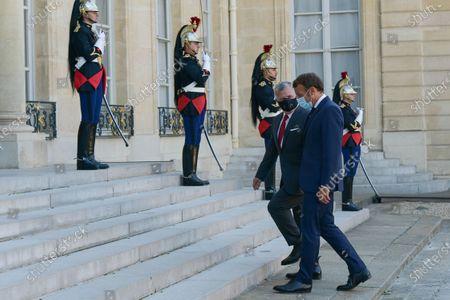 Editorial image of Macron meets with King of Jordan at Elysee Palace, Paris, France - 08 Sep 2020