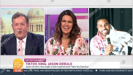 Piers Morgan, Susanna Reid and Jason Derulo
