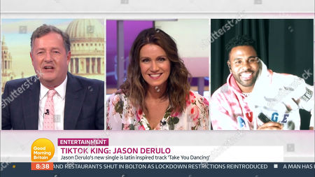 Stock Photo of Piers Morgan, Susanna Reid and Jason Derulo