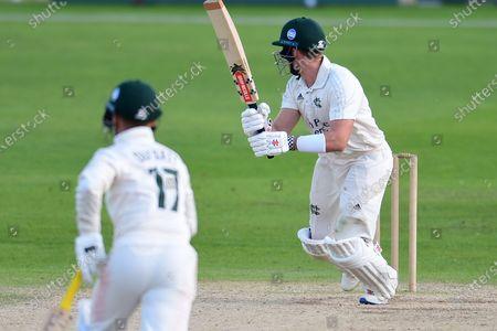 Joe Clarke of Nottinghamshire during the Bob Willis Trophy match between Nottinghamshire County Cricket Club and Durham County Cricket Club at Trent Bridge, Nottingham
