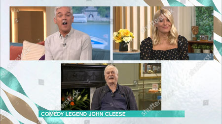 Phillip Schofield, Holly Willoughby and John Cleese
