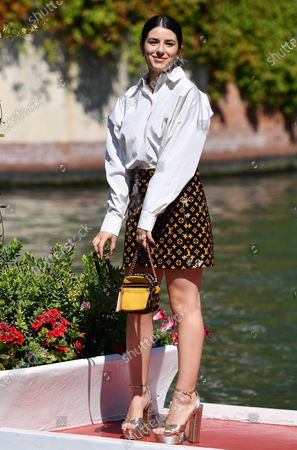 Federica Carta arrives at the Lido Beach for the 77th annual Venice International Film Festival, in Venice, Italy, 09 September 2020. The festival runs from 02 to 12 September.