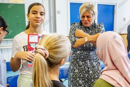 Princess Laurentien during the national launch of the educational program that makes child poverty in the Netherlands a topic of discussion