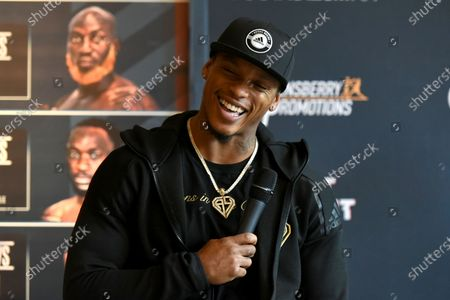 Stock Picture of Anthony Yarde during a Press Conference at the Town Hall & Apartments, Bethnal Green on 9th September 2020