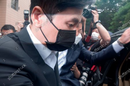 Yang Hyun-Suk, Sep 9, 2020 : Yang Hyun-Suk (front), the founder and former CEO of YG Entertainment, leaves after his trial at the Seoul Western District Court in Seoul, South Korea. Local media reported Yang admitted to charges that he gambled in casinos in Las Vegas in the U.S. over the past several years, during his first court hearing on the case. Yang and three others, including two co-CEOs of YG's affiliated music label YGX, are facing charges that they had gambled at Las Vegas casinos on some 20 occasions between 2015 and 2019 with combined gambling money of some 400 million won (US$336,785) at stake, according to local media. Yang stepped down as the CEO and the chief producer of YG Entertainment in June 2019.