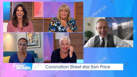 Stock Image of Andrea McLean, Linda Robson, Saira Khan, Denise Welch and Ben Price