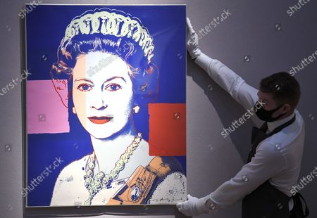 Prints & Multiples: Modern to Pop Online 10 - 22 September, Queen Elizabeth II, from: Reigning Queens (Royal Edition) screenprint in colours with diamond dust, 1985, numbered R13/30, with the artist's copyright stamp verso, Estimate: £100,000-150,000