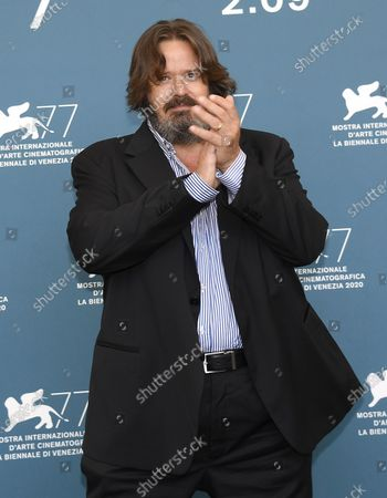 Giuseppe Battiston poses at a photocall for 'Le sorelle Macaluso' during the 77th annual Venice International Film Festival, in Venice, Italy, 09 September 2020.  The movie is presented in Official Competition 'Venezia77' at the festival running from 02 September to 12 September.