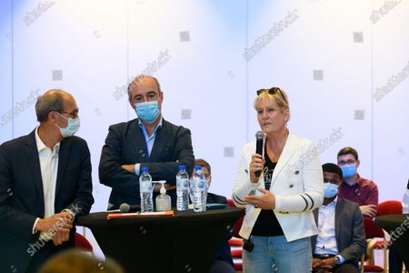 Eric Woerth, a guest and Nadine Morano.
