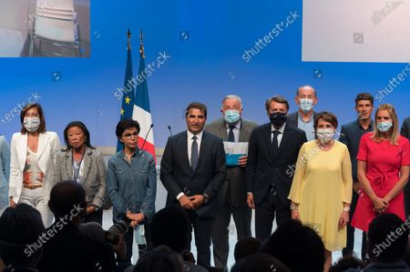 Stock Image of Guests, Rachida Dati, Christian Jacob, Gerard Larcher, Francois Baroin, Daniel Fasquelle, Annie Genevard, Aurelien Pradie, Agnes Elvren.