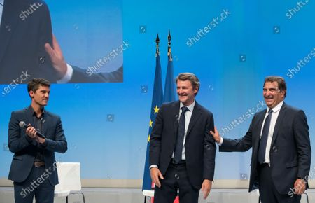 Aurelien Pradie, Francois Baroin and Christian Jacob.