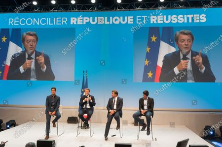 Aurelien Pradie, Francois Baroin, Christian Jacob and Valentin Rouffia.