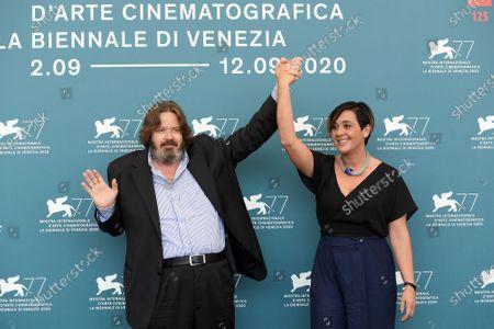 The producers Giuseppe Battiston, Marica Stocchi
