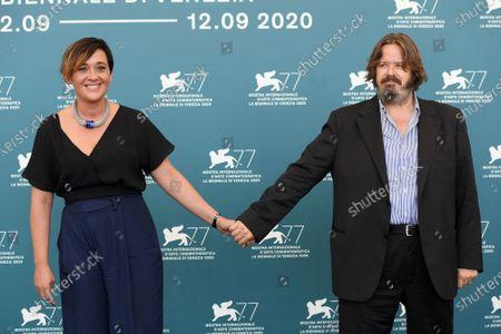 The producers Marica Stocchi, Giuseppe Battiston