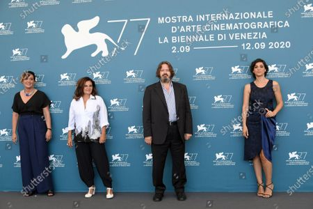 Producer Marica Stocchi, director Emma Dante, producer Giuseppe Battiston, Donatella Finocchiaro