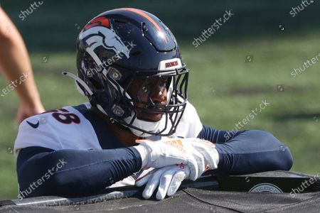 Denver Broncos linebacker Von Miller (58) takes part in drills during an NFL football practice, at the team's headquarter in Englewood, Colo. The Broncos were left scrambling after losing star Von Miller to a season-ending ankle injury, denying them of the Super Bowl 50 MVP's on-field brilliance and locker room leadership